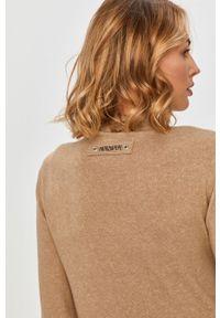 Beżowy sweter Patrizia Pepe z długim rękawem, klasyczny