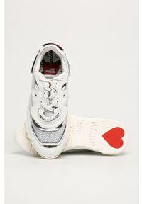 Białe buty sportowe Love Moschino z cholewką, na sznurówki