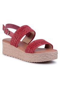 Czerwone sandały Sergio Bardi na co dzień, casualowe