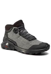 Szare buty trekkingowe salomon trekkingowe