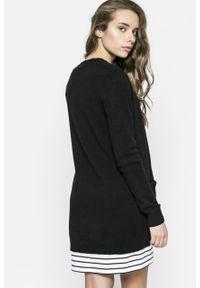 Czarny sweter rozpinany Vila casualowy, na co dzień #4