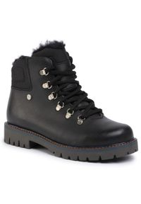 Czarne buty zimowe Bartek