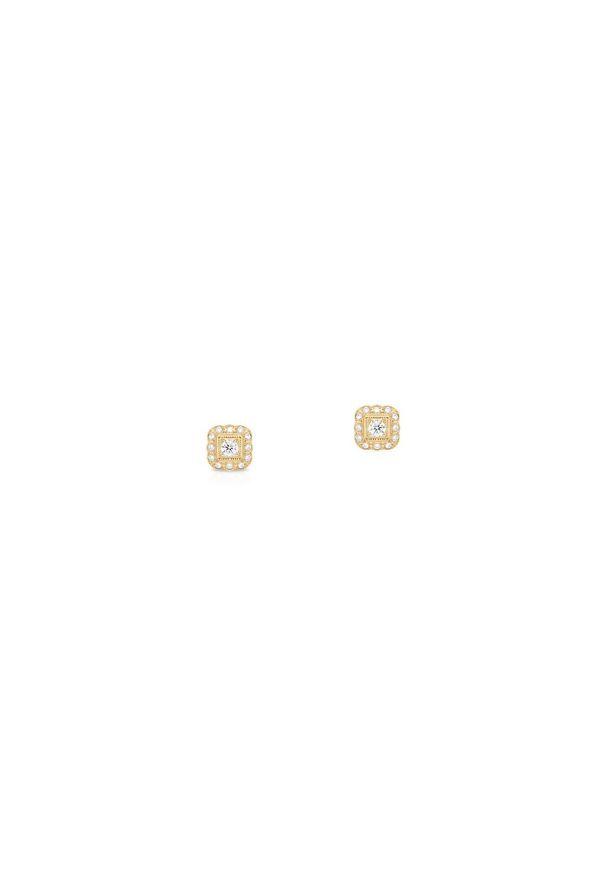 W.KRUK Wspaniałe Złote Kolczyki - złoto 585, Brylant 0,34ct - ZWI/KB+314K. Materiał: złote. Kolor: złoty. Kamień szlachetny: brylant