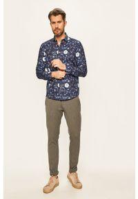 Tailored & Originals - Spodnie. Kolor: szary. Materiał: dzianina, tkanina