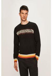 Czarny sweter Desigual casualowy, na co dzień