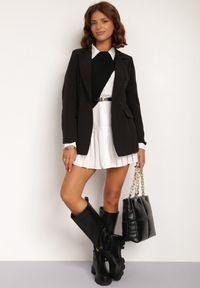 Renee - Czarna Marynarka Cileia. Kolor: czarny. Styl: glamour, klasyczny