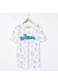 Biały t-shirt House z nadrukiem