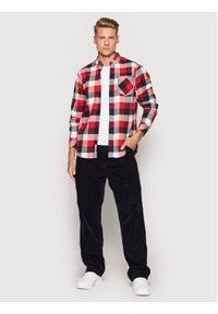 Carhartt WIP Spodnie materiałowe Single Knee I028627 Granatowy Relaxed Fit. Kolor: niebieski. Materiał: materiał