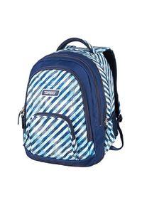 Niebieski plecak Target w paski