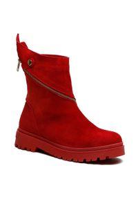 Czerwone buty trekkingowe Eva Minge