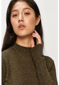 Oliwkowy sweter only z długim rękawem, casualowy, długi