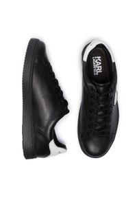 Czarne półbuty Karl Lagerfeld z cholewką