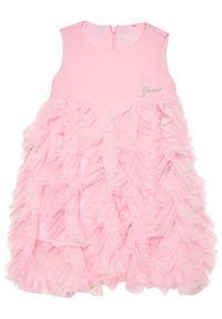 Różowa sukienka wizytowa Guess