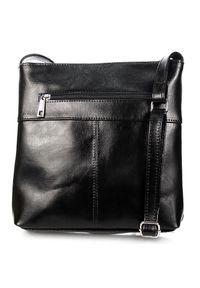 Czarna torebka DAN-A w kolorowe wzory, elegancka