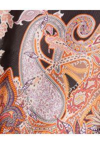 ANA ALCAZAR - Jedwabna sukienka we wzory. Kolor: brązowy. Materiał: jedwab. Typ sukienki: z odkrytymi ramionami. Styl: elegancki. Długość: mini
