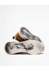 HOFF - Szare sneakersy Washington. Okazja: na co dzień. Kolor: szary. Materiał: guma, materiał. Wzór: nadruk