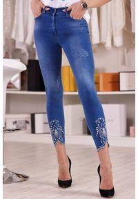 Niebieskie jeansy IVET z podwyższonym stanem, casualowe