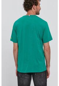 Mc2 Saint Barth - MC2 Saint Barth - T-shirt. Okazja: na co dzień. Kolor: zielony. Wzór: nadruk. Styl: casual