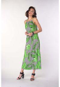 Sukienka wizytowa Nommo na ramiączkach, na lato