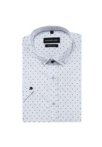Biała koszula Giacomo Conti z krótkim rękawem, button down
