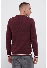 PRODUKT by Jack & Jones - Produkt by Jack & Jones - Sweter z domieszką wełny. Okazja: na co dzień. Kolor: czerwony. Materiał: wełna. Długość rękawa: długi rękaw. Długość: długie. Styl: casual