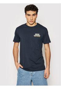 Deus Ex Machina T-Shirt Automatica DMP201826A Granatowy Regular Fit. Kolor: niebieski