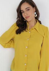 Born2be - Żółta Koszula Philiphise. Kolor: żółty