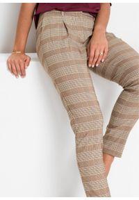 Brązowe spodnie bonprix na spotkanie biznesowe, biznesowe
