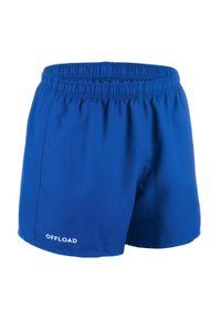 OFFLOAD - SPODENKI do gry w rugby CLUB R100 bez kieszeni. Kolor: niebieski. Materiał: poliester, materiał