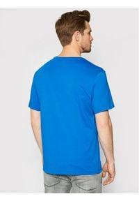 G-Star RAW - G-Star Raw T-Shirt Flock Hamburger Logo D19861-336-C197 Niebieski Regular Fit. Kolor: niebieski