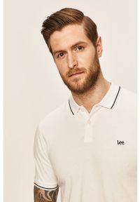 Biała koszulka polo Lee casualowa, na co dzień, polo
