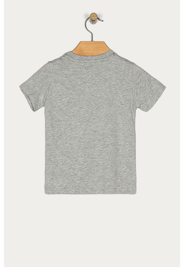 Szary t-shirt Guess Jeans casualowy, z okrągłym kołnierzem