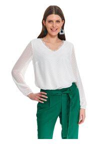 Biała bluzka TOP SECRET na jesień, elegancka