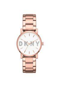 Różowy zegarek DKNY