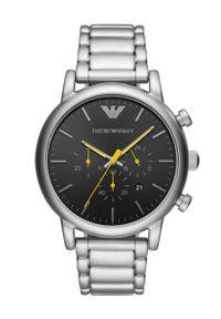 Emporio Armani - Zegarek AR11324. Kolor: srebrny. Materiał: materiał