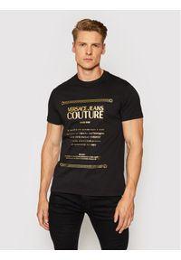Versace Jeans Couture T-Shirt 71GAHT01 Czarny Regular Fit. Kolor: czarny
