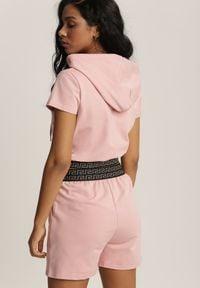 Renee - Różowy Komplet Dresowy Dwuczęściowy Epheronis. Kolor: różowy. Materiał: dresówka