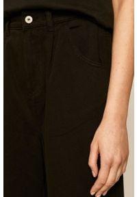 Czarne spodnie materiałowe medicine z podwyższonym stanem, boho