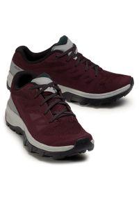 Czerwone buty trekkingowe salomon z cholewką, trekkingowe