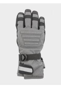 outhorn - Rękawice narciarskie męskie. Materiał: poliester, skóra, syntetyk. Technologia: Thinsulate. Sezon: zima. Sport: narciarstwo