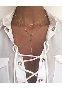 SIN BY MANNEI - Srebrny Naszyjnik Rosary. Materiał: srebrne. Kolor: srebrny. Kamień szlachetny: cyrkonia
