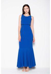 Niebieska sukienka wieczorowa Venaton maxi