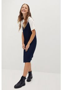Niebieska sukienka Mango Kids prosta, casualowa, na ramiączkach, na co dzień