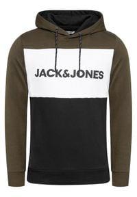 Jack & Jones - Jack&Jones Bluza Logo Blocking 12172344 Zielony Regular Fit. Kolor: zielony