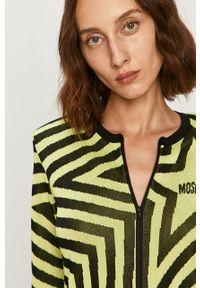 Sweter rozpinany Love Moschino z okrągłym kołnierzem