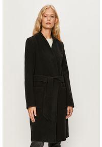 Czarny płaszcz Vila bez kaptura