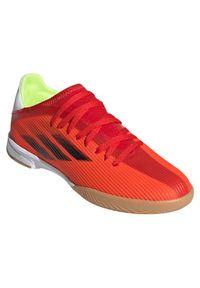 Adidas - Buty piłkarskie halowe dla dzieci adidas X Speedflow.3 IN JR FY3314. Zapięcie: sznurówki. Materiał: materiał, guma. Szerokość cholewki: normalna. Sport: piłka nożna