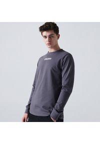 Cropp - Koszulka longsleeve z nadrukiem - Szary. Kolor: szary. Długość rękawa: długi rękaw. Wzór: nadruk