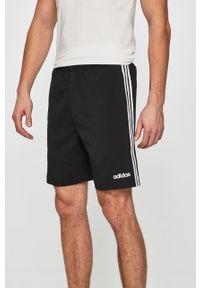 Czarne szorty adidas Performance sportowe, na co dzień