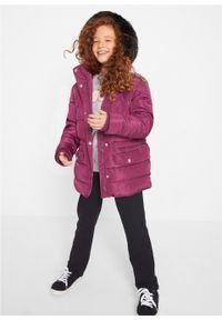 Fioletowy płaszcz bonprix z kapturem